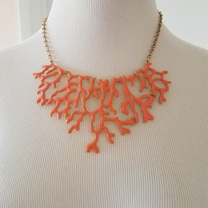 Womens Orange Coral Necklace by Loft